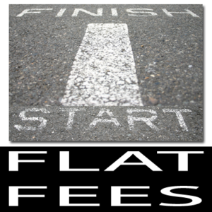 Flat fees are the cost of your case from start to finish.